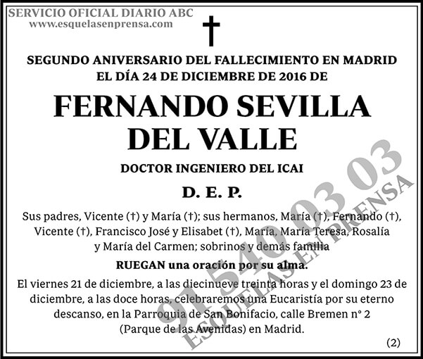 Fernando Sevilla del Valle